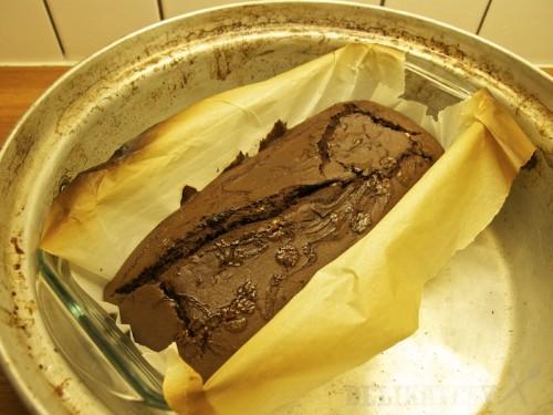 Upečený čokoládovo-fazuľový koláč