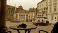 Výhľad z Café Dolce Vita na historické námestie
