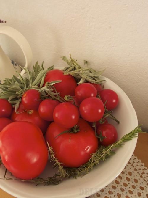 Miestne rajčiny a bylinky