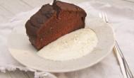 Hotový koláč z čokolády a fazule