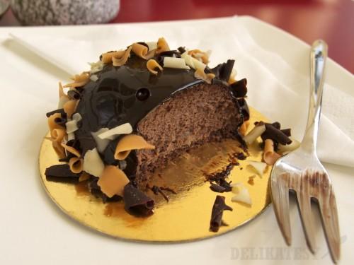 Hruškový kopček s čokoládovou penou