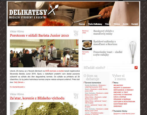 Delikatesy.sk v marci 2010