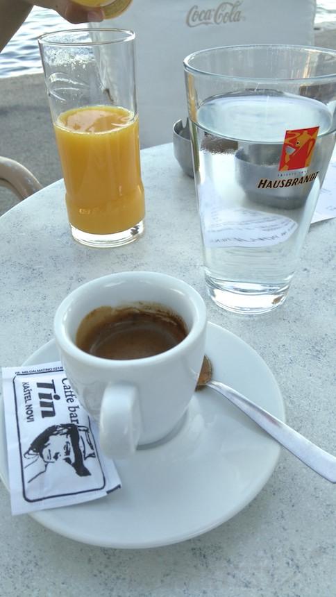 Espresso Heissenberger v kaviarni Tin